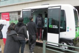 Kyushu University to Begin Holding Demonstration Tests of Autonomous Bus Technology