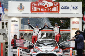 Toyota Places Second in World Rally Championship Opener
