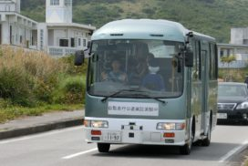 SoftBank, Advanced Smart Mobility Test Self-Driving Bus in Okinawa