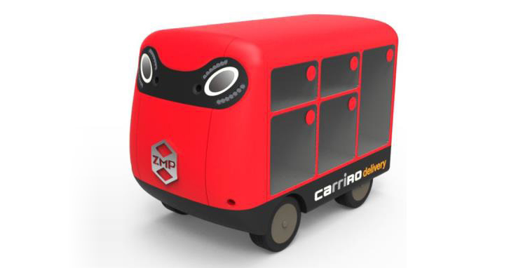 Amid Labor Shortage ZMP Develops Door-to-Door Delivery Robot