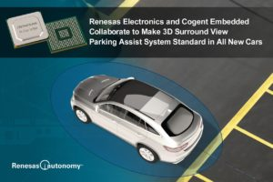 Renesas Partners With Cogent Embedded to Develop 3D Surround View Parking Solution