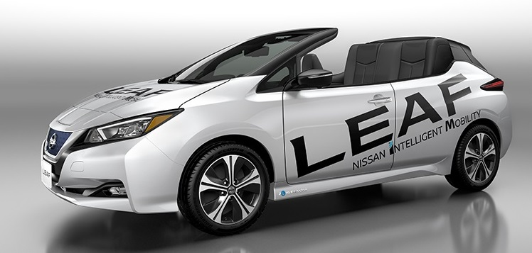 Nissan Unveils New Convertible Version of Leaf EV