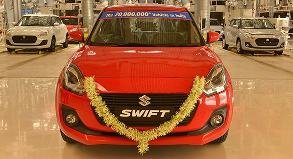 Suzuki Hits Cumulative Production Total of 20M Vehicles in India